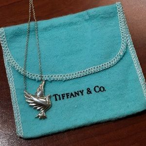 Tiffany & Co Polomo Picasso Sterling Dove Necklace